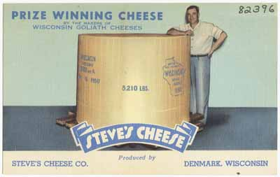 Prize winning cheese from Denmark, Wisconsin.
