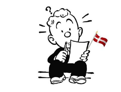 Writing your Danish cv. Image mashup copyright Kay Xander Mellish