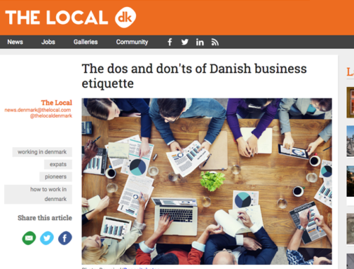Business etiquette in Denmark
