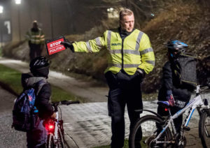 Danish cops will fine you if you don't have a bike light