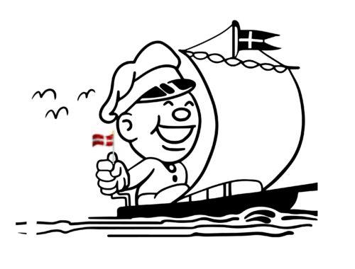 Danes and Boats, copyright Kay Xander Mellish 2020